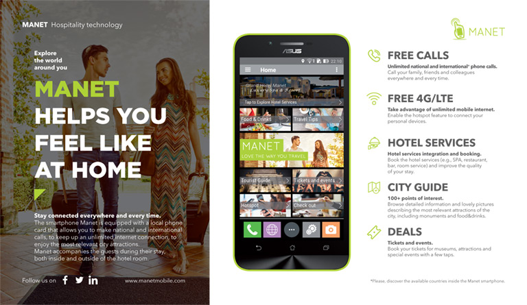 Mobile guide, free calls and more during your stay