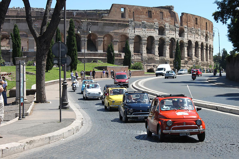 The Fiat 500 Grand Tour of Rome