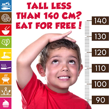 All children up to 140cm are free of charge